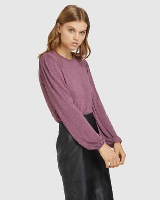 Oxford - Lottie Long Sleeve T shirt - Long Sleeve T-Shirts (Purple) Lottie Long Sleeve T-shirt