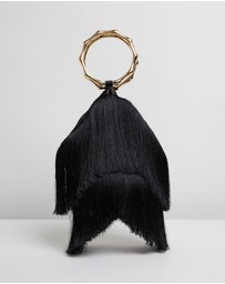 Olga Berg - Teenie Fringed Ring Handle Bag