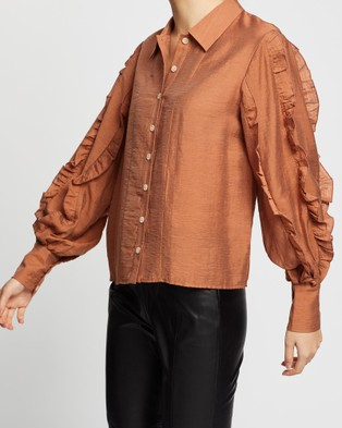Wish The Label Palette Shirt - Tops (Cinnamon)