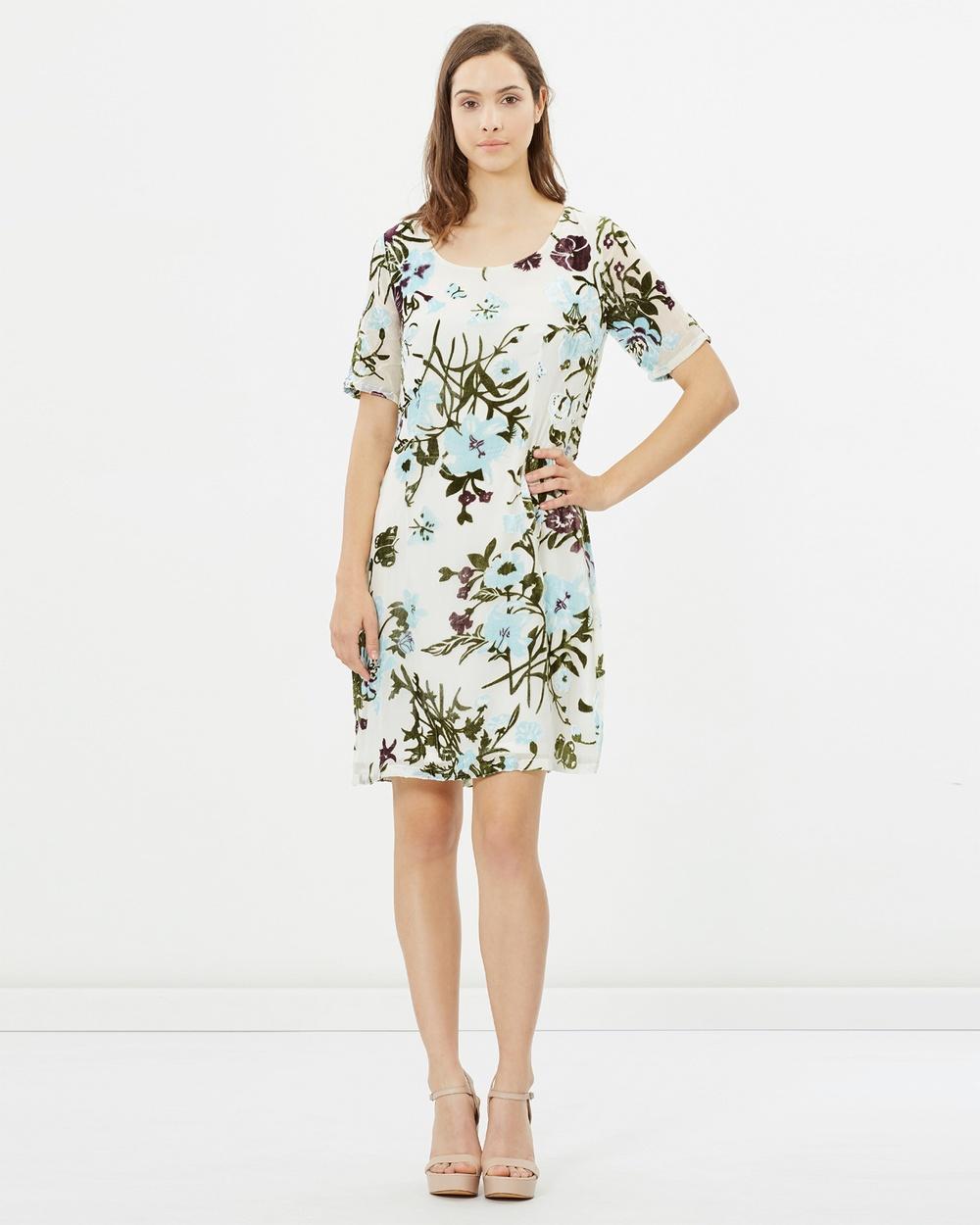 Faye Black Label Scoop Neck Dress Dresses Summer Blooms Scoop Neck Dress