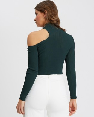 Tussah Eviann Knit Top - Cropped tops (Emerald)