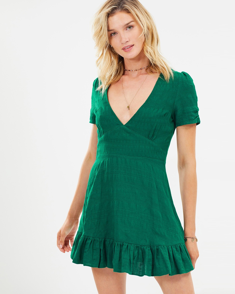 Auguste The Label Stevie Play Dress Dresses Forest Green Stevie Play Dress