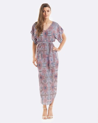Amelius – Babylon Midi Dress – Printed Dresses Multi
