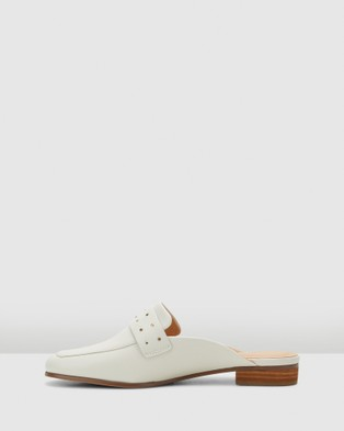 Clarks Pure Mule - Heels (White Leather)