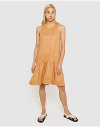 Jag - Drop Waist Linen Dress