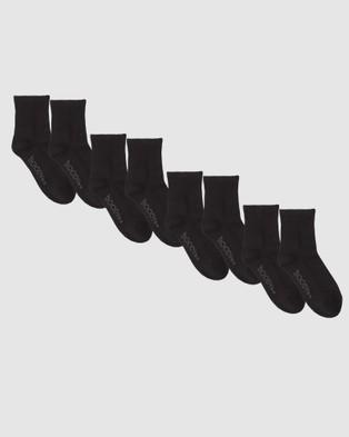 Boody Organic Bamboo Eco Wear 4 Pack Men's Quarter Crew Sports Sock Socks & Tights Multi