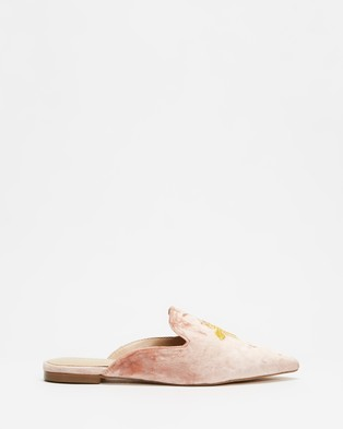 Atmos&Here Den Velvet Slippers - Flats (Blush Velvet)