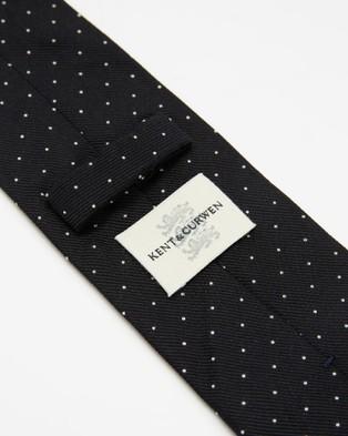 Kent and Curwen - Polka Dot Silk Tie - Ties (Black) Polka-Dot Silk Tie