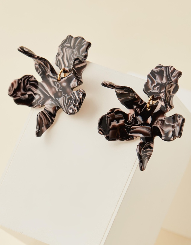 Lele Sadoughi - Small Paper Lily Earrings
