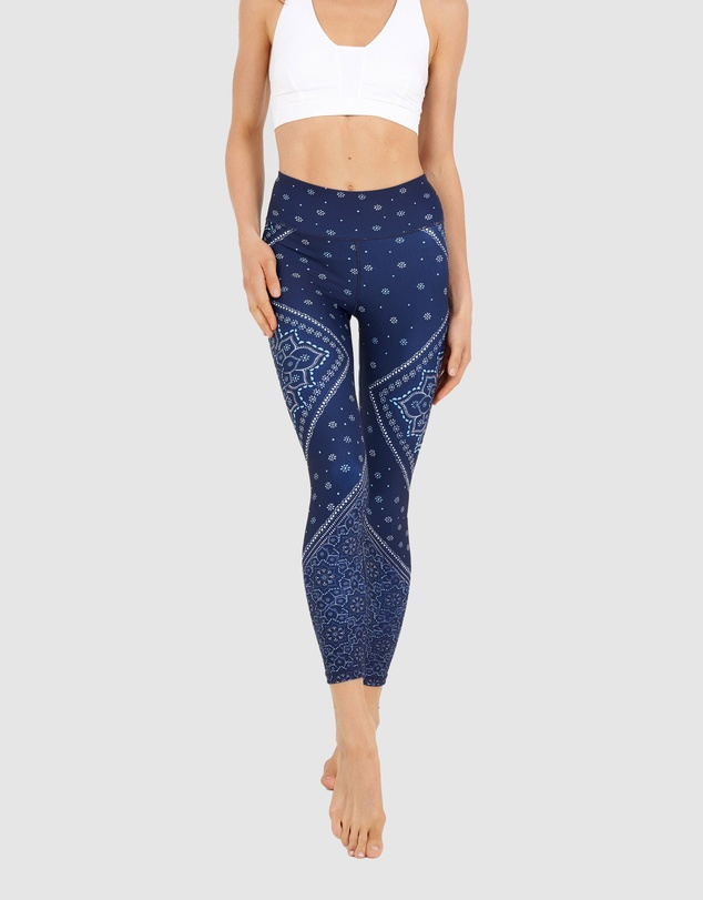 Dharma Bums - Gypsy Heart Recycled High Waist Leggings - 7/8