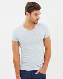 Emporio Armani - Cotton Stretch V-Neck Undershirt