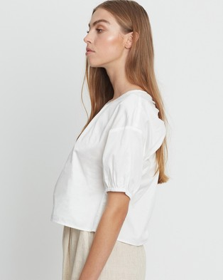 The Fated Bisou Blouse - Tops (White)