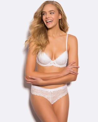Bras N Things Posie Lace Push Up Bra - Push Up Bras (Ivory)