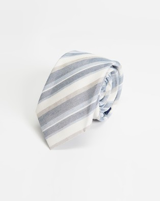 Tie Lab - 3 Piece Gift Box Set - Ties (Blue & White) 3-Piece Gift Box Set