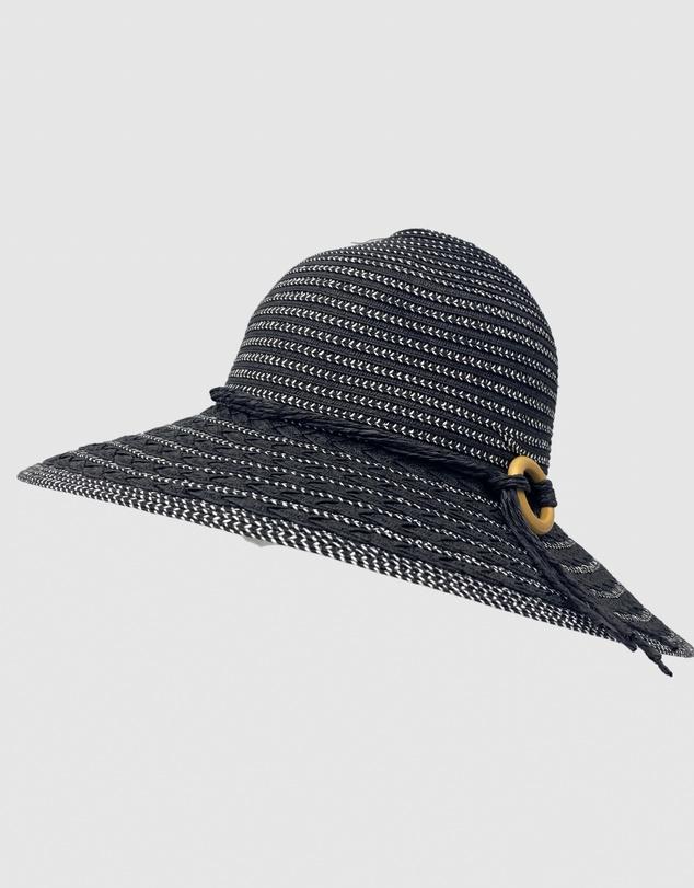 Women Jacaru 1885 Sun Hat Black & White