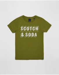 Scotch Shrunk - Short Sleeve Logo Tee - Teens