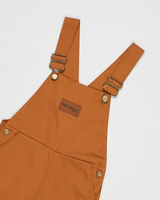 Wild Island The Wildling Overalls Shorts   Kids - Jumpsuits & Playsuits (Amber)
