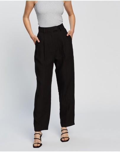 Aere Straight Leg Pants Black