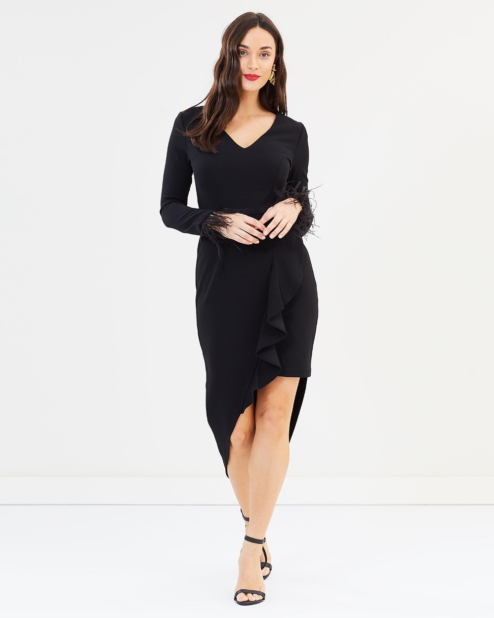 Romance by Honey and Beau Isadora Long Sleeve Dress Bridesmaid Dresses Black Isadora Long Sleeve Dress