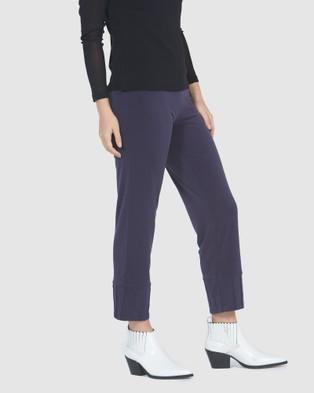Faye Black Label Crop Pintuck Pants - Pants (Storm)