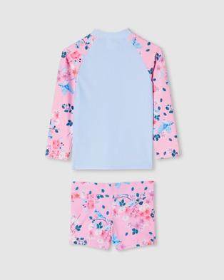 Milky Bluebird Zip Rash Set   Babies - Rash Suits (Lilac Sachet)