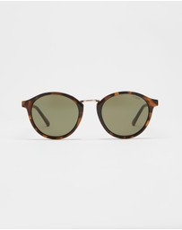 Le Specs - Paradox Brown Tort Round Sunglasses
