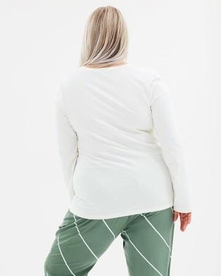 Advocado Plus Essential Long Sleeve Top - Dresses (Off White)