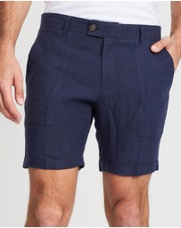 Double Oak Mills - Tailored Linen Shorts