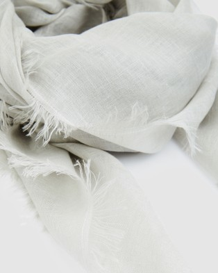 Cloth & Co. Hand Loomed Linen Scarf - Scarves & Gloves (Winter Fog)