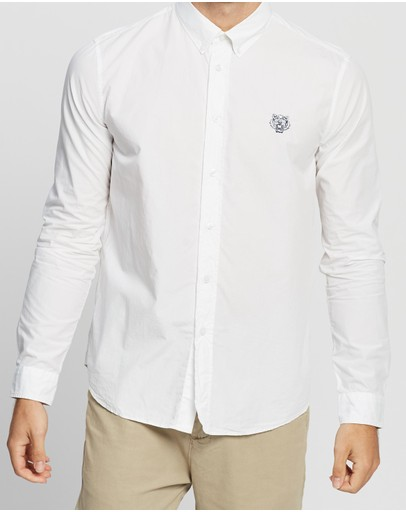 Kenzo Tiger Crest Casual Fit Shirt White