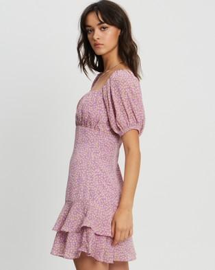 Savel Mia Mini Dress - Printed Dresses (Lavender Ditsy Floral)