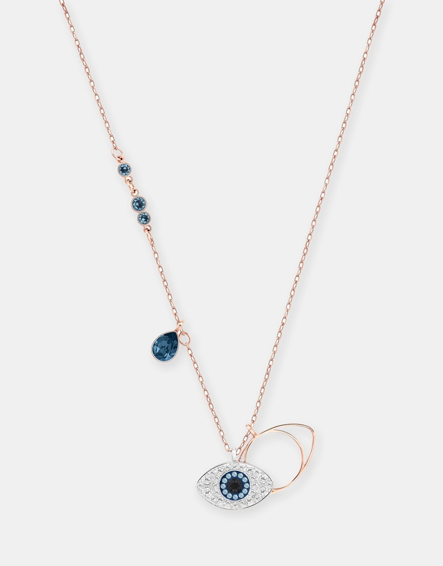 Swarovski - Duo Evil Eye Pendant Stone Necklace
