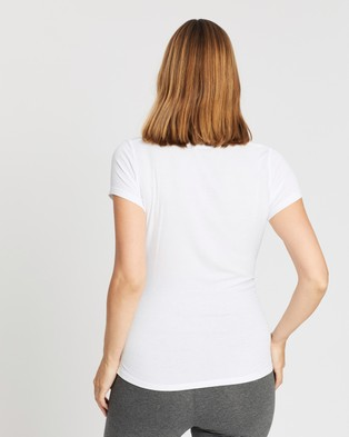 Cotton On Maternity Maternity Wrap Front Short Sleeve Top - T-Shirts & Singlets (White)