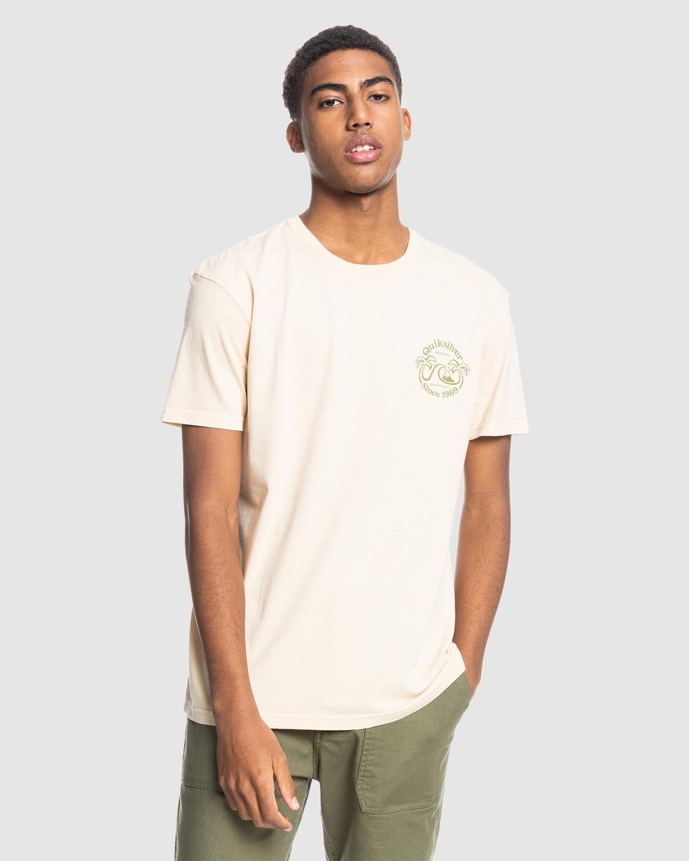 Quiksilver - Mens Double Palms Organic T Shirt - T-Shirts & Singlets (Antique White) Mens Double Palms Organic T-Shirt