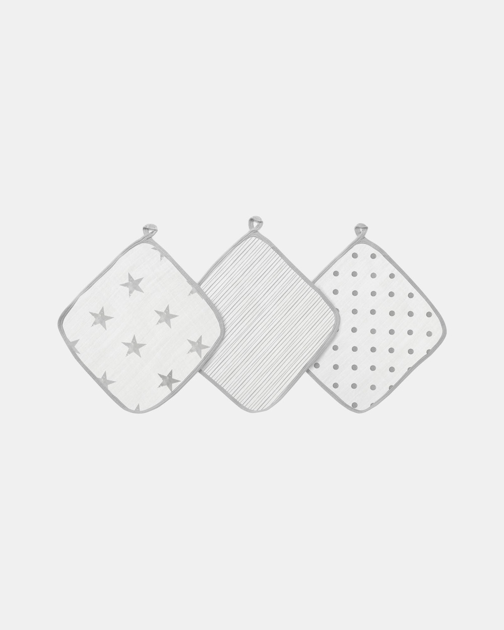 Aden & Anais 3 Pack Essentials Muslin Washcloths Towels Face Washers Dusty Stars 3-Pack