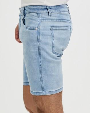 Staple Superior Staple Denim Shorts - Denim (Blue)