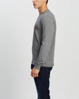 Diesel UMLT Diegos Long Sleeve T Shirt - T-Shirts & Singlets (Grey)