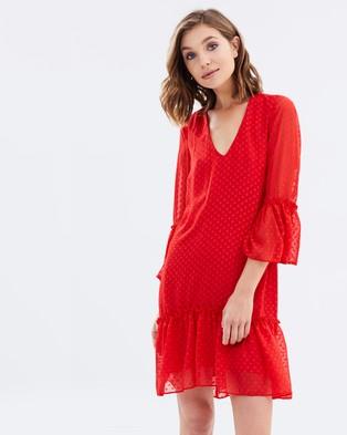 Miss Selfridge – Plain Bonnie Dress Red