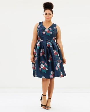 Chi Chi Curve – Serene Dress – Dresses (Navy)