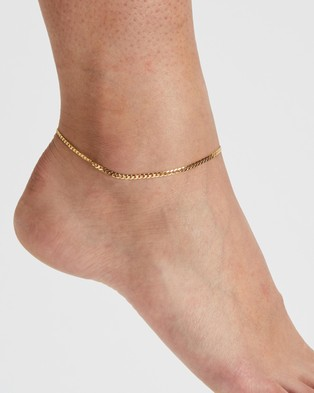 Brie Leon Mini Novia Anklet - Jewellery (Signature Gold)