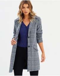 Atmos&Here - Renee Wool-Blend Check Coat