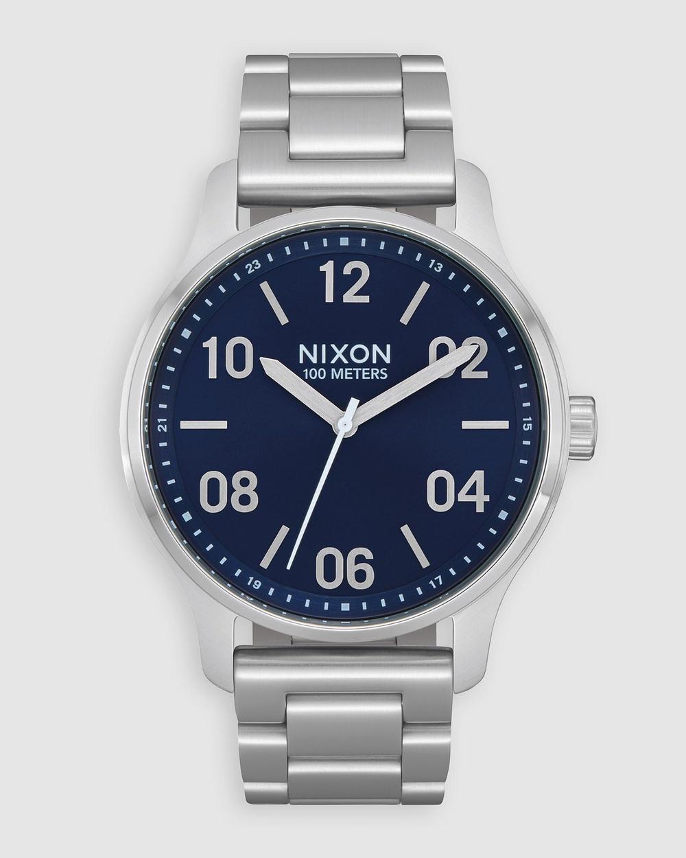 Nixon Patrol Watch Watches Navy & Silver