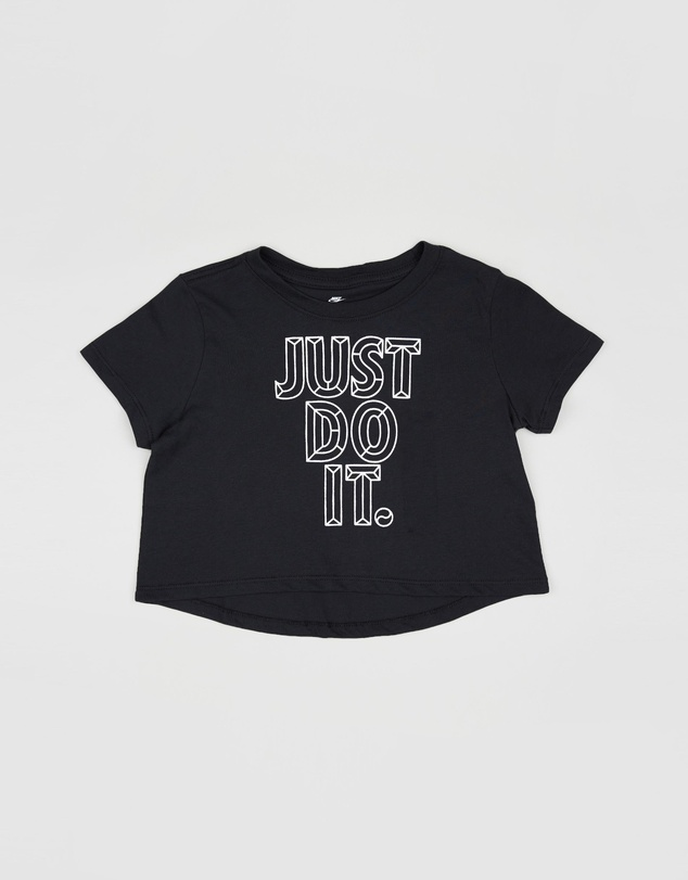 Nike Kids - Just Do It Cropped Faceted T-Shirt - Teen