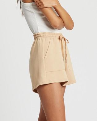 ST MRLO Maui Shorts - High-Waisted (Tan)