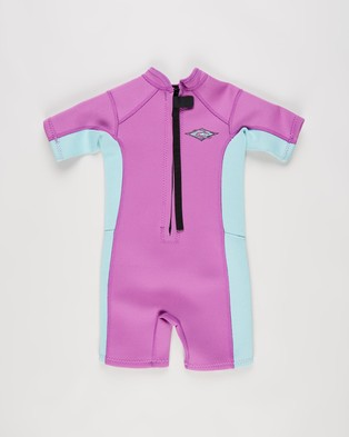 Rip Curl Omega 1.5mm Short Sleeve Spring Wetsuit   Kids - Rash Suits (Purple)