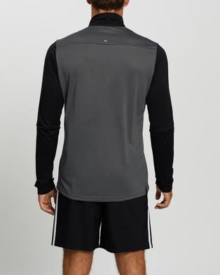 adidas Performance Own The Run 1 2 Zip Sweatshirt - Sweats (Grey Five, Black & Acid Yellow)