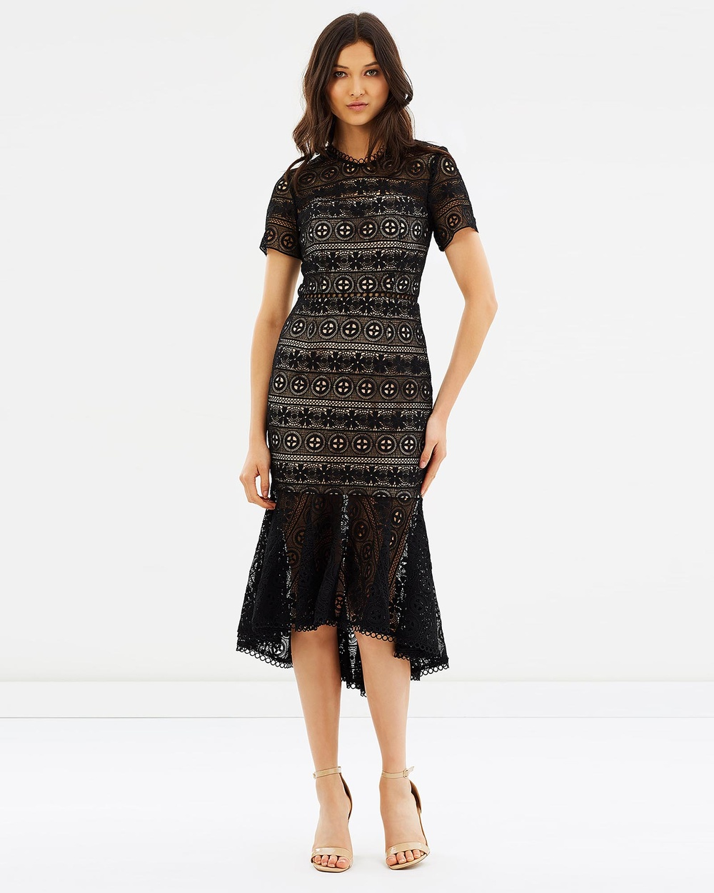 Love Honor Arabella Lace Dress Dresses Black & Nude Arabella Lace Dress