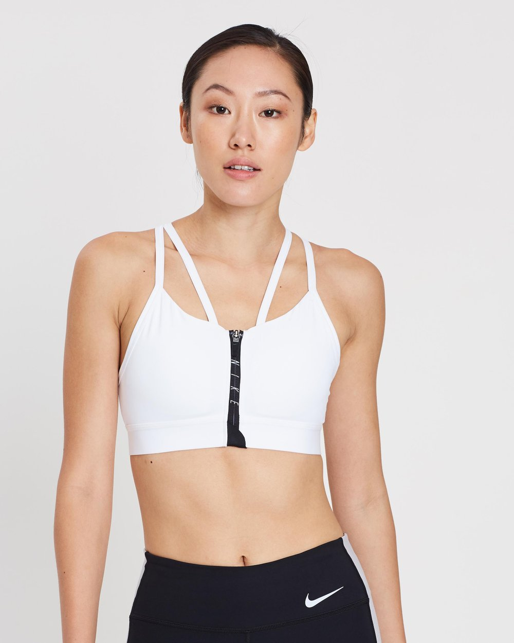 c066623e817a9 Indy Zip Light-Support Sports Bra by Nike Online | THE ICONIC | Australia