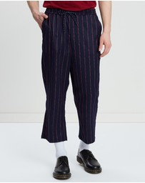 Justin Cassin - Vulu Pinstripe Tapered Pants