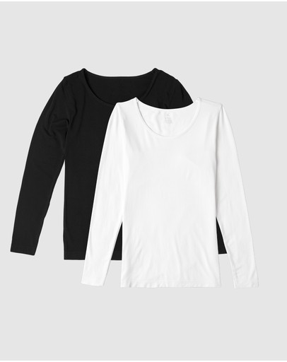 Boody Organic Bamboo Eco Wear - 2-Pack Long Sleeve Tops